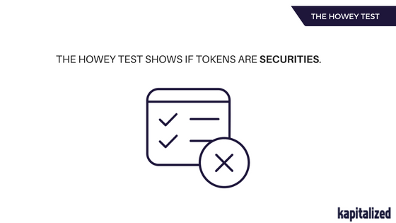 The Howey test for tokens