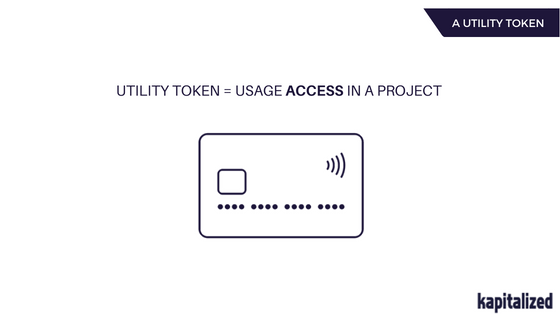 What are Utility tokens?